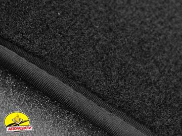 Коврики в салон для Citroen SpaceTourer '16- 1+2, передние, текстильные, черные (Премиум) 2 клипсы
