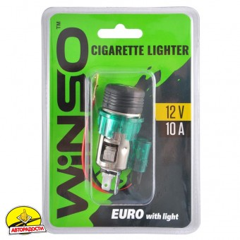 Автомобильный прикуриватель с подсветкой, евро 210110 (Winso)