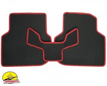 Коврики в салон для Volkswagen Jetta VI '10-, EVA-полимерные, черные с красной тесьмой (Kinetic)