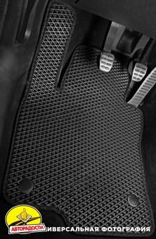 Коврики в салон для Tesla Model X '15- (5 мест), EVA-полимерные, черные (Kinetic)
