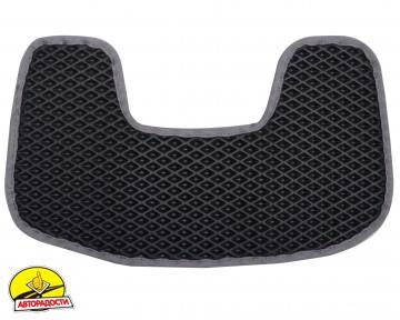 Коврики в салон для Peugeot 307 '01-07, EVA-полимерные, черные с серой тесьмой (Kinetic)