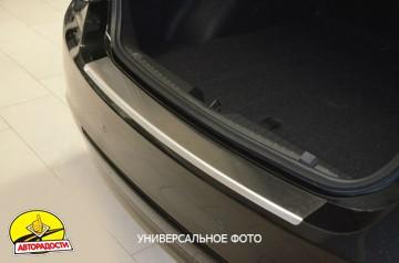 Накладка с загибом на бампер для Skoda Superb '15- (Premium)