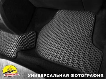 Коврики в салон для Hyundai Elantra MD '11-15, EVA-полимерные, серые с черной тесьмой  (Kinetic)