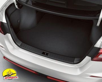 Коврик в багажник для Audi A4 (B7) '00-08 седан текстильный, черный (Optimal)