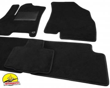 Коврики в салон для Chery Tiggo 7 '17-, текстильные, черные (Optimal)