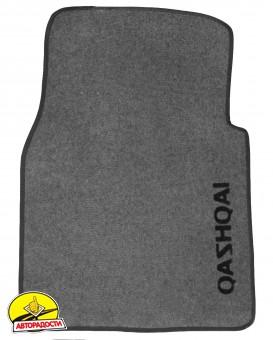 Коврики в салон для Nissan Qashqai '06-14 текстильные, серые (Стандарт)