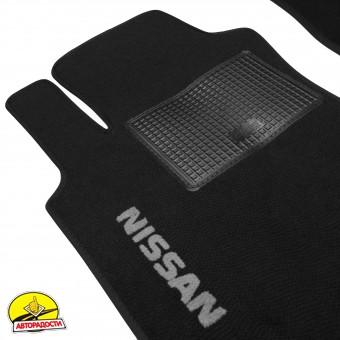 Коврики в салон для Nissan Qashqai +2 '06-14 текстильные, черные (Стандарт)