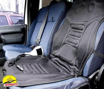 Накидка на сиденье с подогревом LA 140402BK (117x51см) с регулятором нагрева