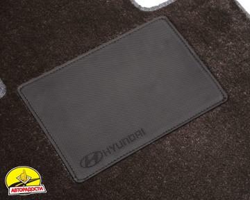 Коврики в салон для Hyundai Tucson '03-09, текстильные, серые (Optimal)