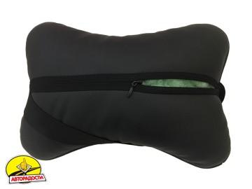 Подушка на подголовник в автомобиль черная