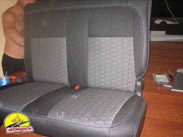 Авточехлы Premium для салона Citroen Berlingo '08-18 серая строчка (MW Brothers)
