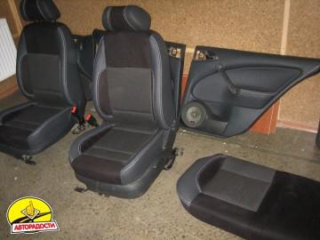 Авточехлы Premium для салона Skoda Octavia Tour '97-09 серая строчка (MW Brothers)