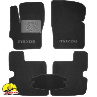 Коврики в салон для Mazda 3 '04-09 текстильные, черные (Премиум)
