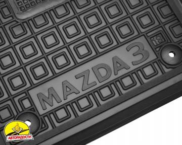 Коврики в салон передние для Mazda 3 '19- резиновые, черные (AVTO-Gumm)