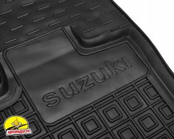 Коврики в салон передние для Suzuki Jimny '19- резиновые, черные (AVTO-Gumm)