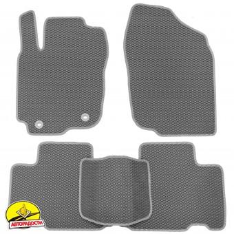 Коврики в салон для Toyota RAV4 2013-2018, EVA-полимерные, cерые (Kinetic)