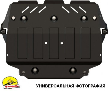 Защита двигателя для Volkswagen Polo '17-, 1.4 TSi, АКПП/МКПП (Полигон-Авто)