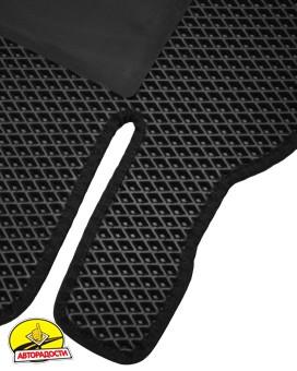 Коврики в салон для Toyota Camry V70 2018-, EVA-полимерные, черные с подпятником (Kinetic)