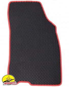 Коврики в салон для Renault Megane 3 '08-16, универсал, EVA-полимерные, черные с красной тесьмой (Kinetic)