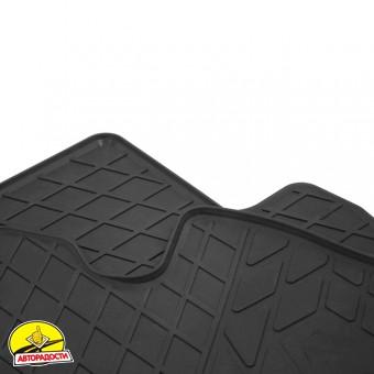 Коврики передние в салон для Jeep Wrangler '07-16 резиновые, черные (Stingray)