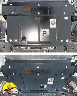 Защита двигателя и КПП, радиатора для Ford Custom '18-, V-2.0TDCi, МКПП (Кольчуга) Zipoflex