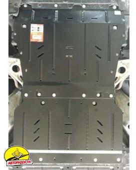 Защита двигателя и КПП для Chevrolet Bolt '16-, 60 кВт, АКПП (Кольчуга) Zipoflex