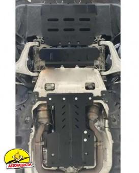 Защита двигателя и КПП, радиатора для Maserati Levante '18-, V-3,0i, АКПП (Кольчуга) Zipoflex
