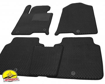Коврики в салон для Hyundai Sonata '15- USA, EVA-полимерные, черные с подпятником (Kinetic)