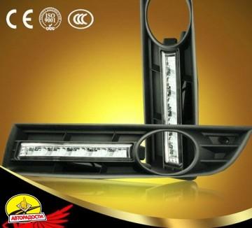 2 - Дневные ходовые огни для Volkswagen Passat B6 '05-10 (LED-DRL)