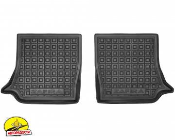 Коврики в салон для Opel Zafira B '05-13 резиновый, черный, 3 ряд (AVTO-Gumm)