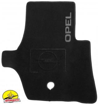 Коврики в салон для Opel Movano '03-10 текстильные, черные (Люкс)