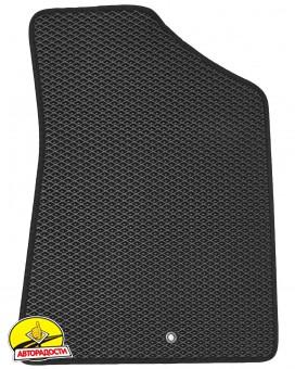 Коврики в салон для Kia Sorento 2013 - 2015, EVA, черные с подпятником (Kinetic)