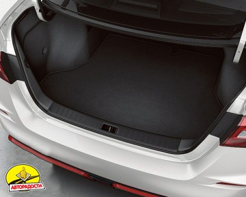 Коврик в багажник для Volkswagen Atlas '17- короткий, текстильный, черный (Optimal)