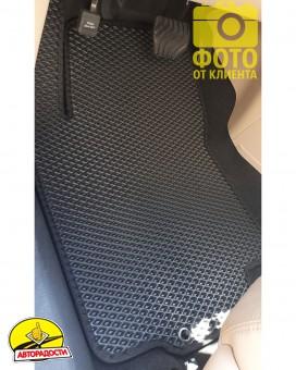 Коврики в салон для Nissan Rogue '14-20, EVA-полимерные, черные (Kinetic)