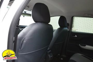 Авточехлы Premium для салона Citroen C-Elysee '13- серая строчка, с деленной спинкой (MW Brothers)