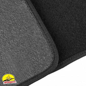 Коврики в салон для Mitsubishi L200 '16- текстильные, черные (Стандарт) короткая база