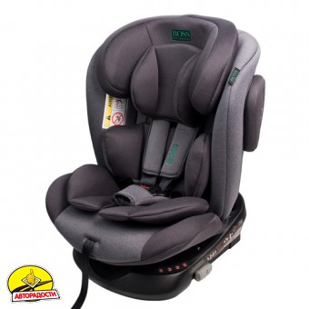 Детское автокресло Boss Baby Car Seat HB636 (0+/I, II, III) grey-black