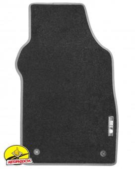 Коврики в салон для Fiat 500 '08- текстильные, серые (Стандарт)
