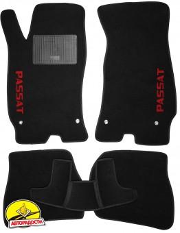 Коврики в салон для Volkswagen Passat B5 '97-05 текстильные, черные (Стандарт)