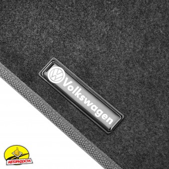 Коврики в салон для Volkswagen Passat B5 '97-05 текстильные, серые (Стандарт)