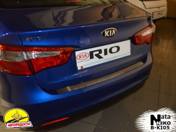 Накладка на бампер для Kia Rio '11-15 Седан (Premium)
