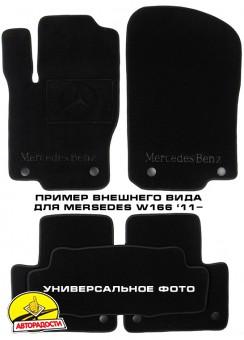 Коврики в салон для Mercedes A-Class W169 '04-11 текстильные, черные (Премиум)