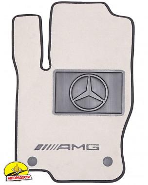 Коврики в салон для Mercedes A-Class W177 '18-, текстильные, пепельные (Премиум)