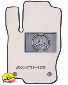 Коврики в салон для Mercedes GLE-Class W167 '19-, текстильные, пепельные (Премиум)
