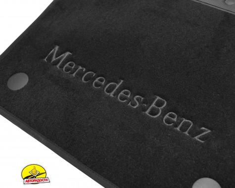 Коврики в салон для Mercedes GLE-Class W167 '19-, текстильные, черные (Премиум)