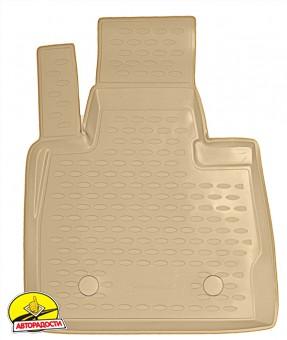 Коврики в салон для BMW X5 E53 '00-07 полиуретановые, бежевые (Novline)