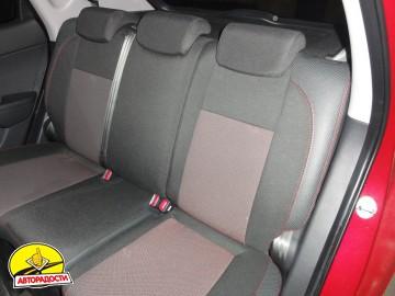 Авточехлы Premium для салона Hyundai i-30 '07-13, универсал красная строчка (MW Brothers)