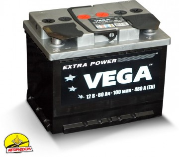 Автомобильный аккумулятор VEGA 6CT-60A VAZ