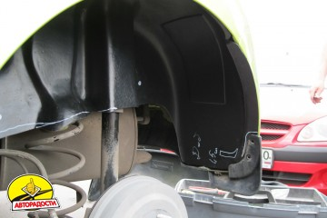 Подкрылок задний левый для Chevrolet Spark '11- (Novline)