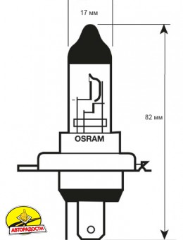 Автомобильная лампочка Osram Standard H4 80/85W 12V